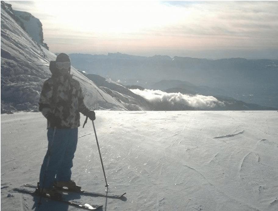 En el glaciar de Les deux Alpes