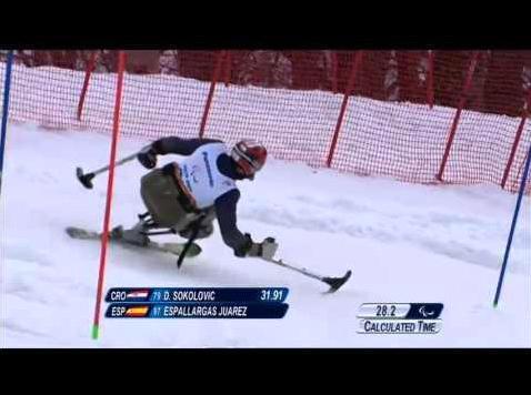 Esquí paralímpico - Descenso de Óscar Espallargas en Sochi 2014