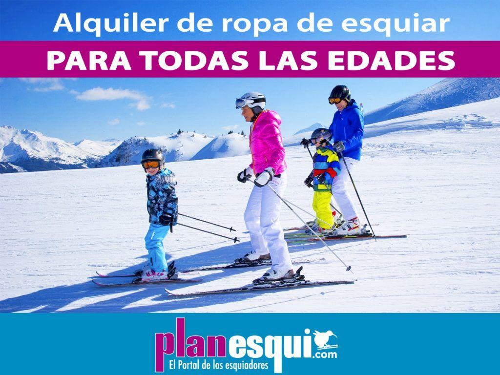 Alquiler de ropa de esquí para todas las edades