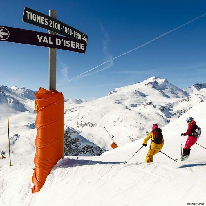 Esquiar en verano en Val D´Isere, en el glaciar Pisaillas.